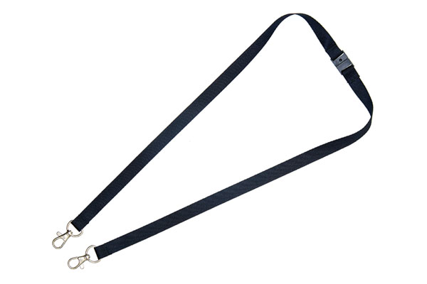 Black Double Clip Lanyard