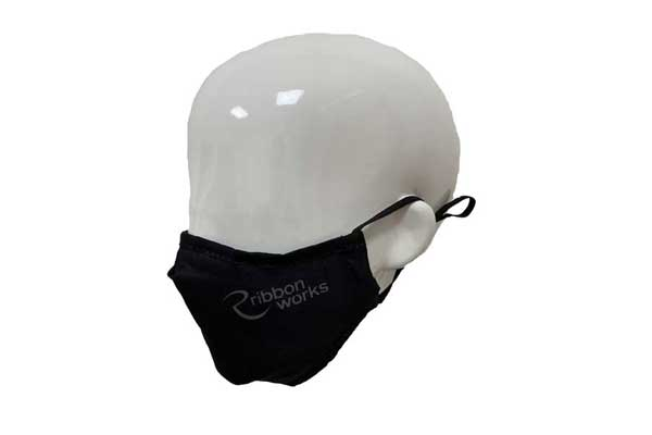 Full Colour Printed Poly Cotton Face Mask - Side View
