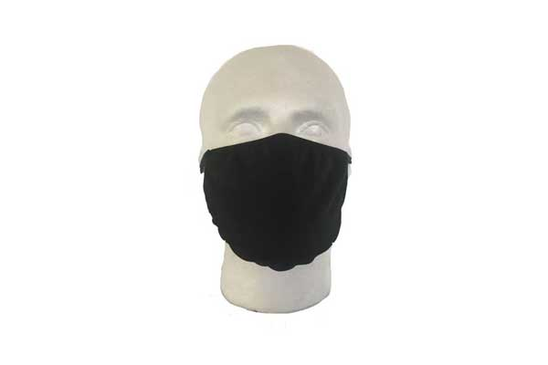 Black Cloth Face Mask - Front View