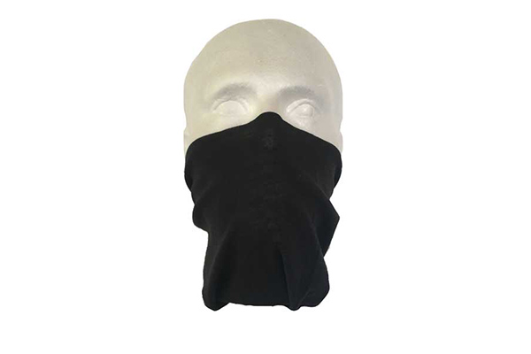 Black Neck Tube Bandana - Worn As A Face Cover