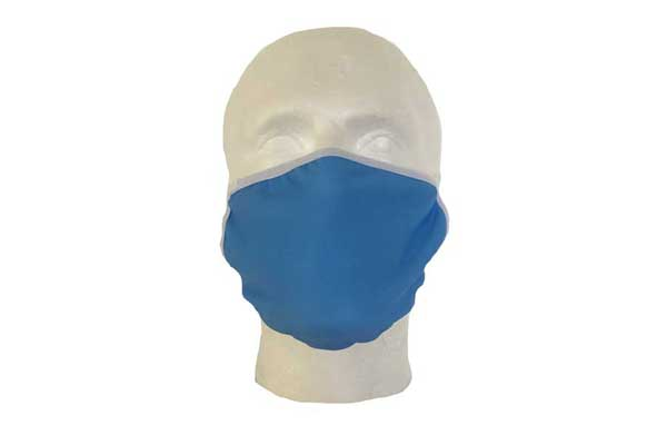 Blue Cloth Face Mask - Front View