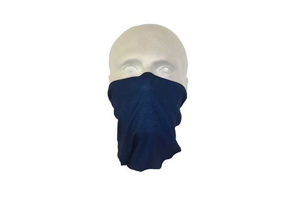 Blue Neck Tube Bandana - Worn As A Face Cover