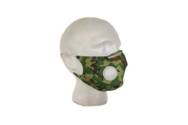 Green Camouflage Mask - Side View