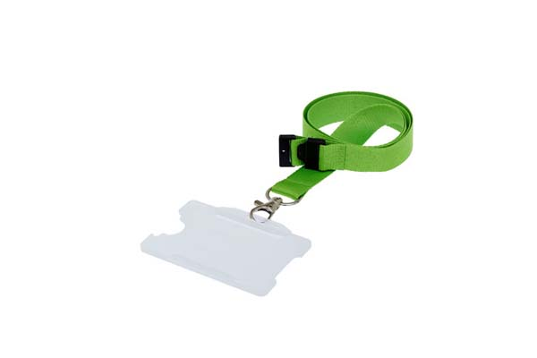 Clear Landscape Double ID Card Holder On A Lanyard (Not Included)