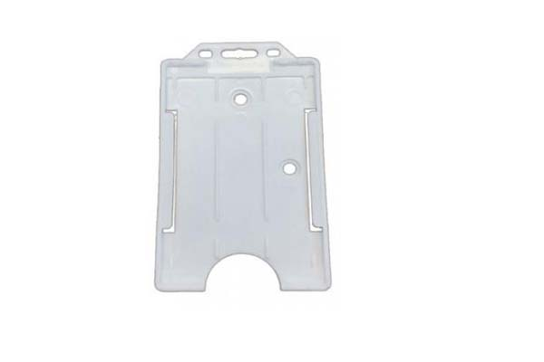 Clear Portrait Double ID Card Holder