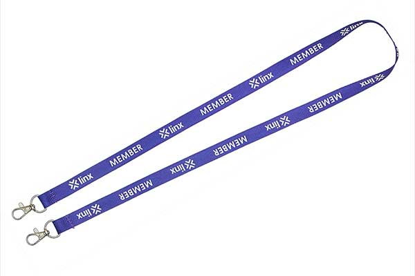 Screen Printed Double Clip Lanyard
