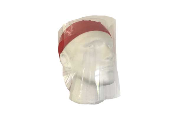Face Shield Face Visor Worn With A Bandana