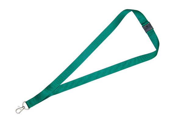2cm Flat Dark Green Lanyard