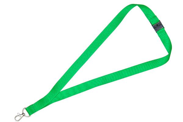 1cm Flat Green Lanyard