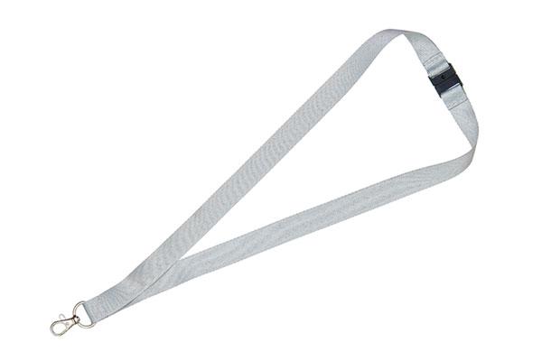 1cm Flat Grey Lanyard