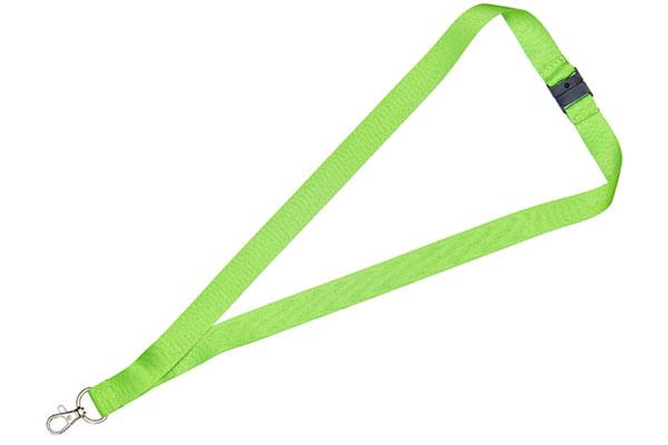 2cm Flat Lime Green Lanyard