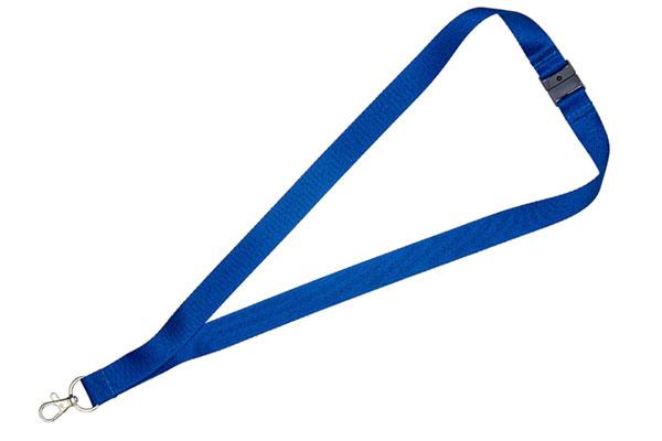1cm Flat Navy Blue Lanyard