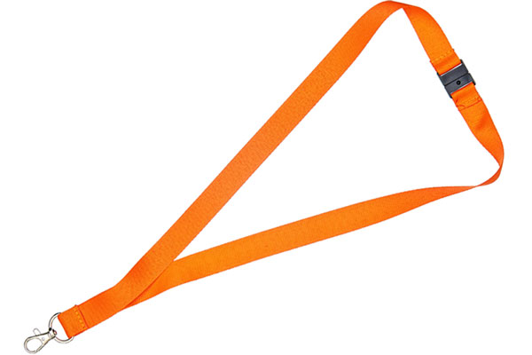 1cm Flat Orange Lanyard