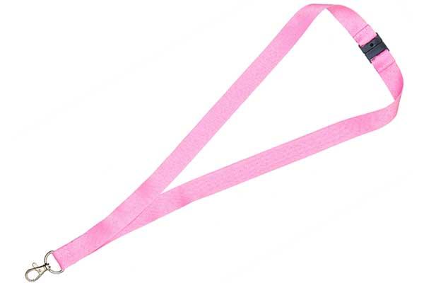 2cm Flat Pink Lanyard