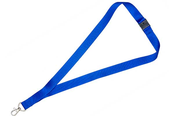 2cm Flat Royal Blue Lanyard