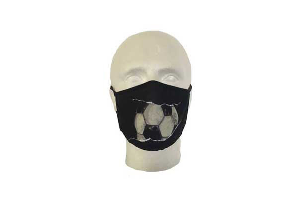 Football Cloth Face Mask - Front View
