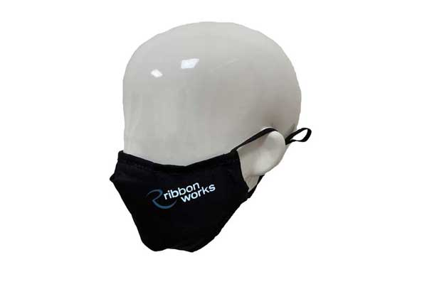 Full Colour Printed Antibacterial Face Mask - Side View