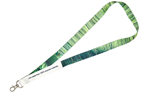 Full Colour Dye Sub Lanyard - Recycled Dye Sublimation Lanyard