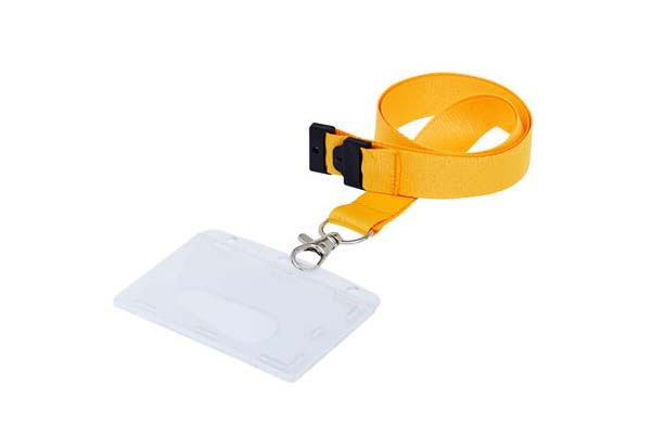 Fully Enclosed Landscape ID Card Holder On A Lanyard (Not Included)