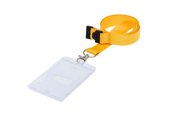 Fully Enclosed Portrait ID Card Holder On A Lanyard (Not Included)
