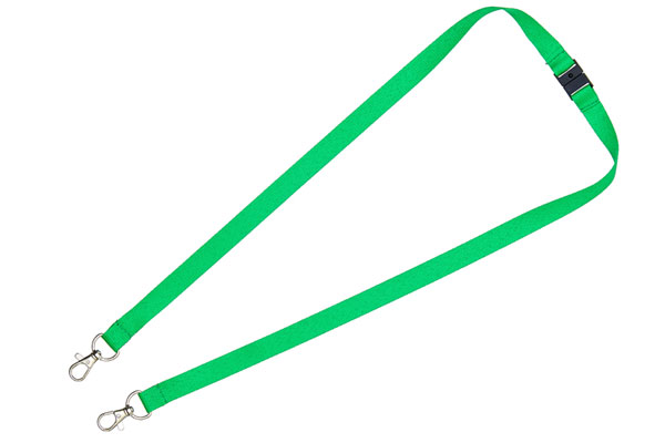 Green Double Clip Lanyard