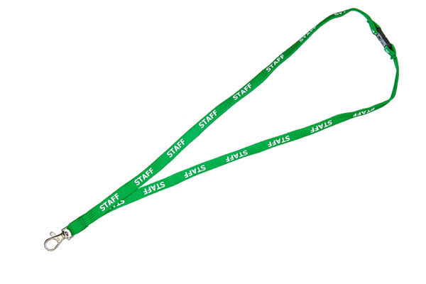 Green Staff Lanyard