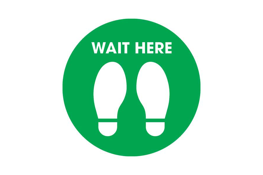 Wait Floor Sticker