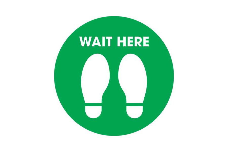 Wait Floor Sticker
