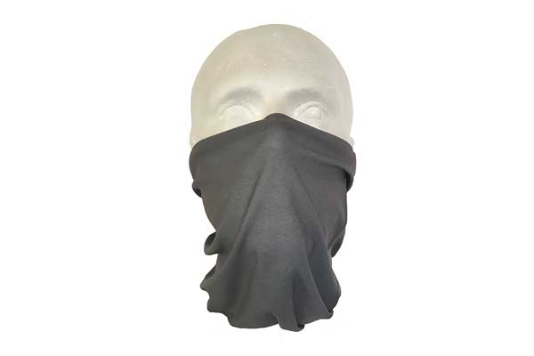 Grey Neck Tube Bandana - Worn As A Face Cover