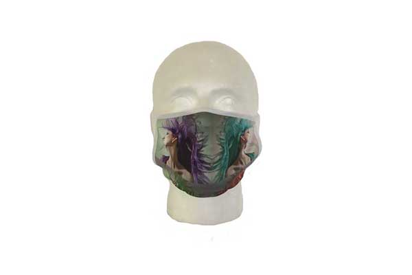Spa Mask (Hair Design) - Front View