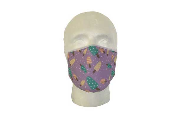 Ice Lolly Cloth Face Mask - Front View