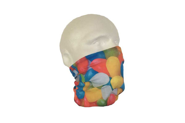 Jelly Beans Neck Tube Bandana - Side View