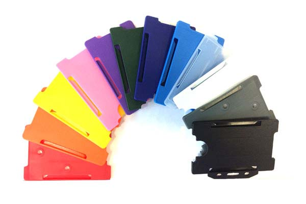 Rigid Plastic ID Card Holders - Single ID Landscape