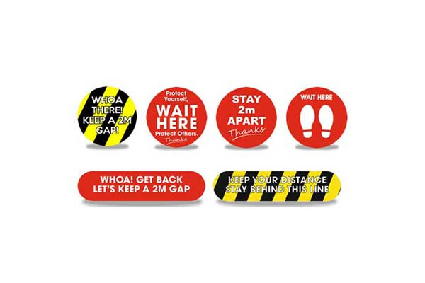 Multipack Social Distancing Stickers
