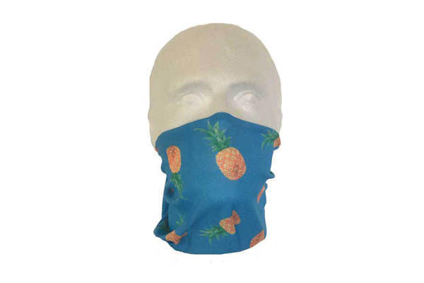 Pineapple Neck Tube Bandana - Worn As A Face Cover