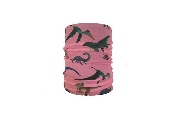 Pink Dinosaur Neck Tube Bandana