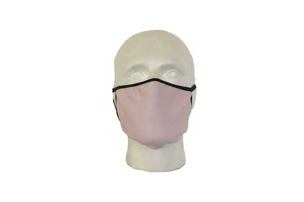 Pink Cloth Face Mask - Front View