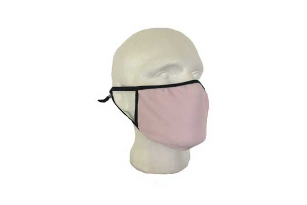 Pink Cloth Face Mask - Side View