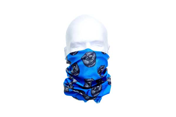 Fleece Lined Polar Neck Tube Bandana - Worn As A Face Cover