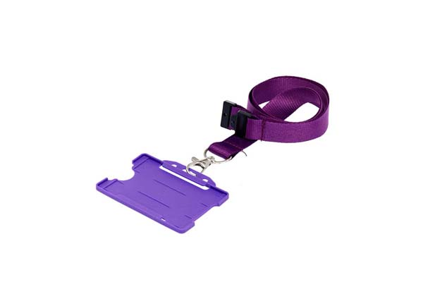 Purple ID Cardholder with Lanyard (not included)