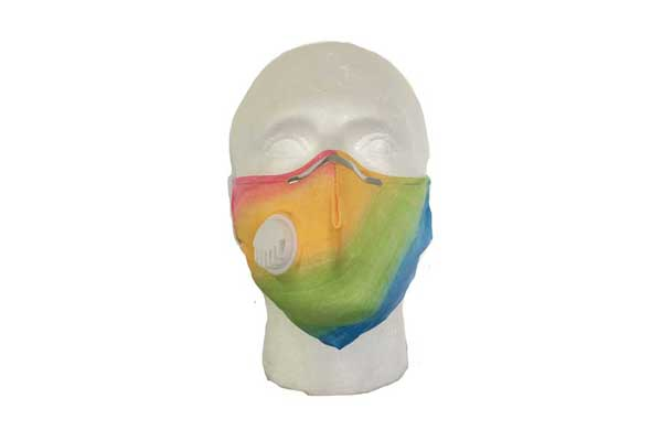 Rainbow Cloth Face Mask - Front View
