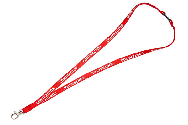Contractor Lanyard - Pre-printed Contractor Lanyards