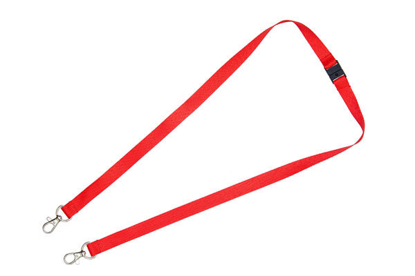 Red Double Clip Lanyard
