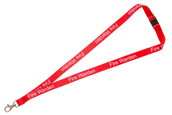 Fire Warden Lanyard - Pre-printed Fire Warden Lanyards