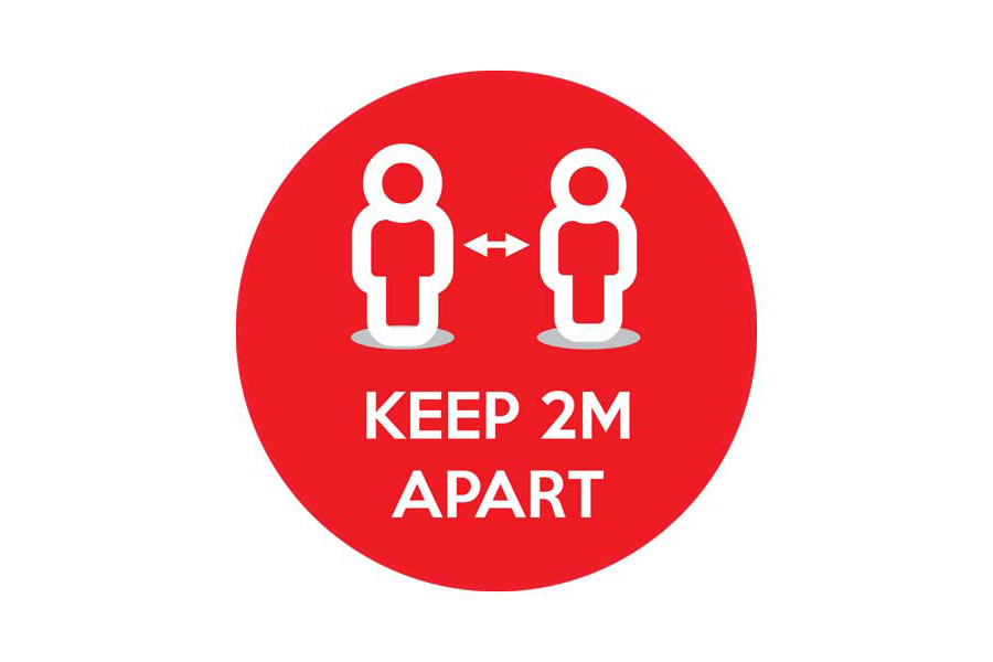 Keep 2m Apart Floor Sticker