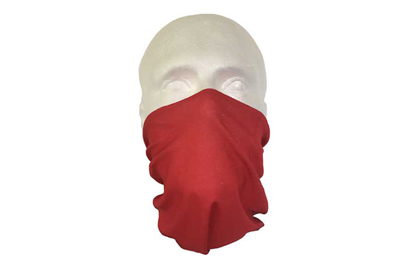 Red Neck Tube Bandana - Worn As A Face Cover