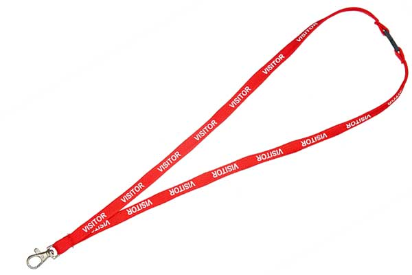 Red Visitor Lanyard
