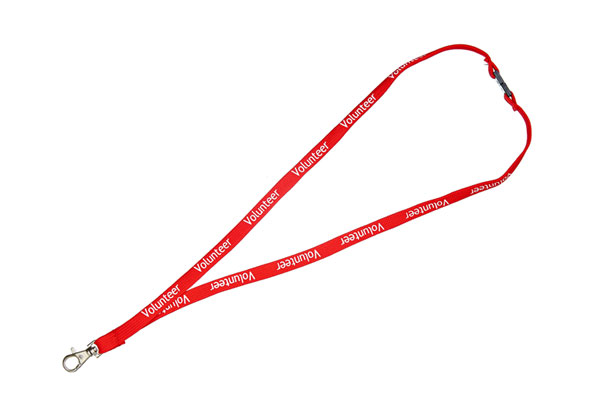 Volunteer Lanyard - Pre-printed Volunteer Lanyards