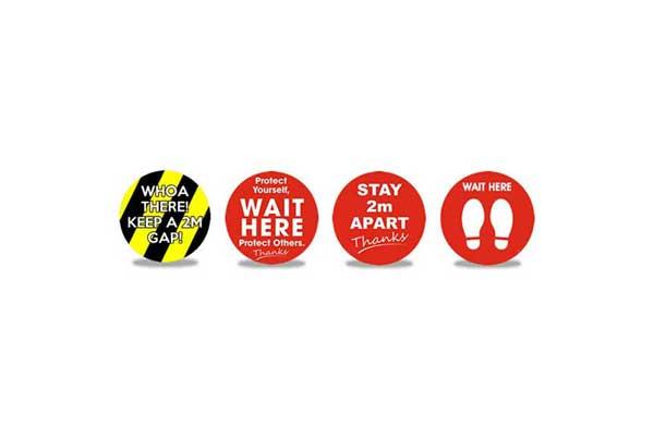 Round Social Distancing Floor Stickers
