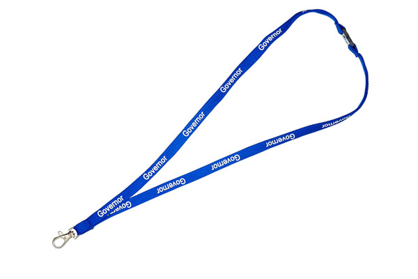 Royal Blue Governor Lanyard